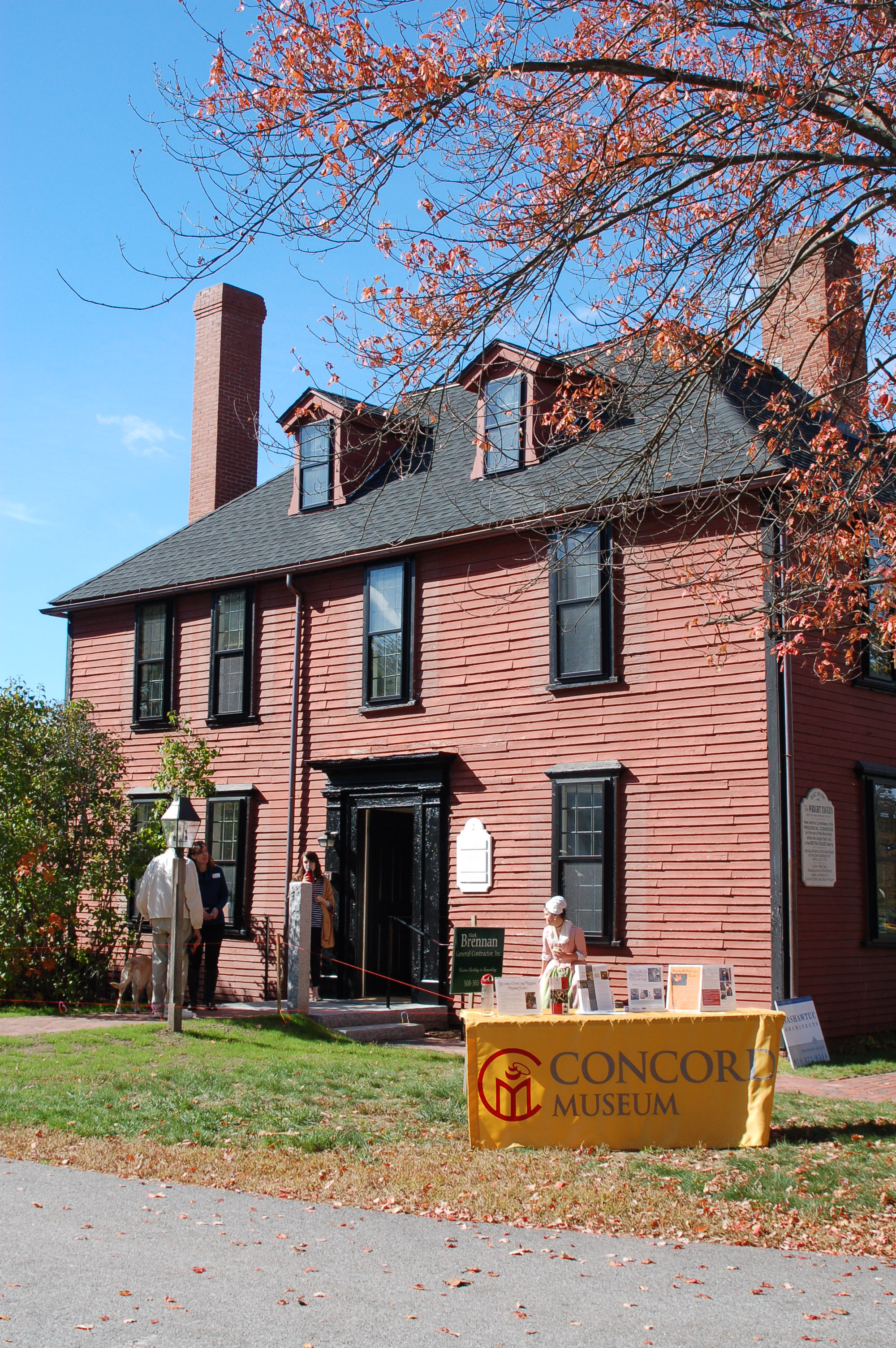 Current photo of Wright Tavern. Courtesy Concord Museum