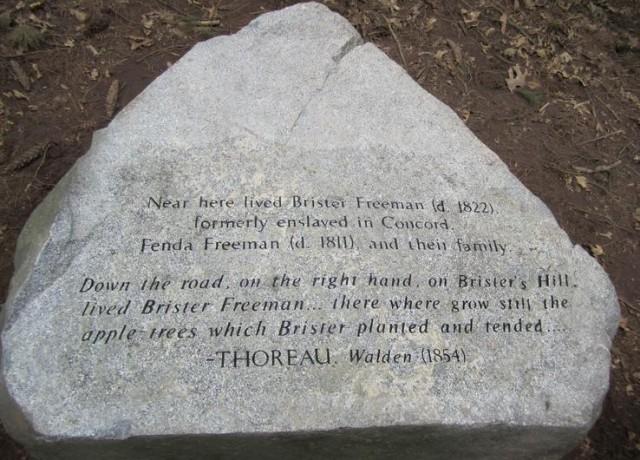 Brister Freeman stone marker