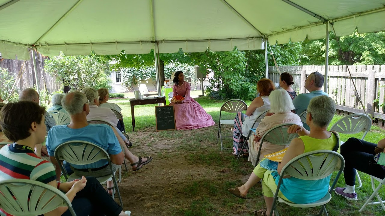 On July 28th, Elon Cook Lee Portrayed Robbins House Civil Rights Activist Ellen Garrison, Reading And Discussing The Letters Garrison Wrote During Her Time In 1860s Maryland And Virginia As A Freedmen's Bureau Teacher. It Was During This Time That Ellen Garrison Was The First To Test The Country's 1866 Civil Rights Act.